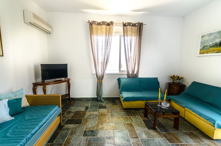 LIVING ROOM (left sofa has the ability of two single beds)