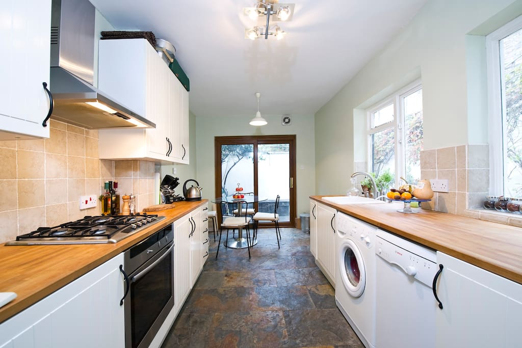 Chat about the day ahead whilst you prepare breakfast in our homely eat in kitchen