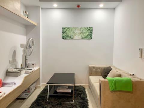 Cozy Condominium in Salaya. King-size bed.