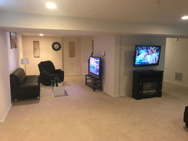 Spacious Luxurious Basement Apt In Safe Location