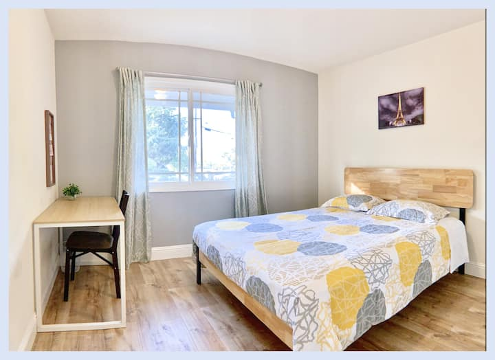 Private room9 queen bed mission Fremont May'smile