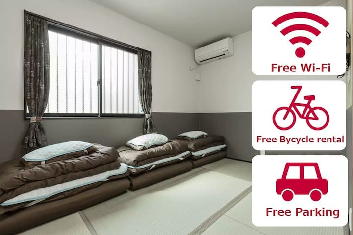 【NEW】GuestHouseB☆KyotoSta.Area☆FreeWi-Fi☆Bicycle