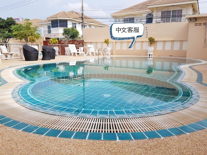 Central pattaya 7 bedroom pool villa #217
