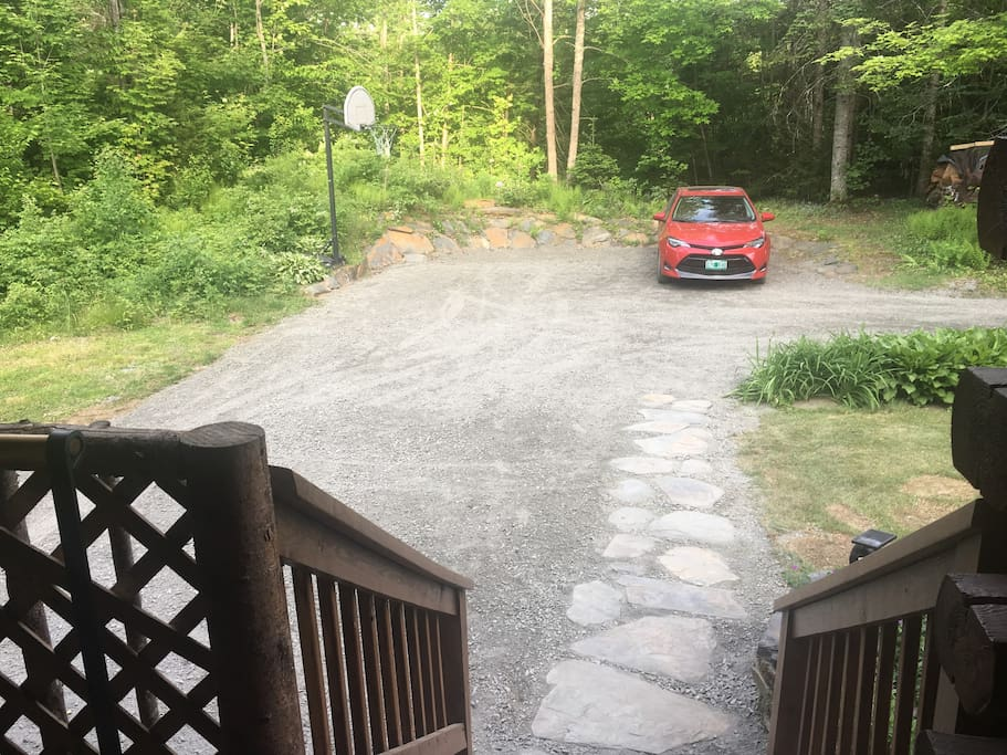 Our driveway was expanded and re-graveled spring of 2018.