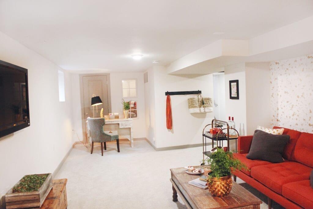 The living room / stationary desk