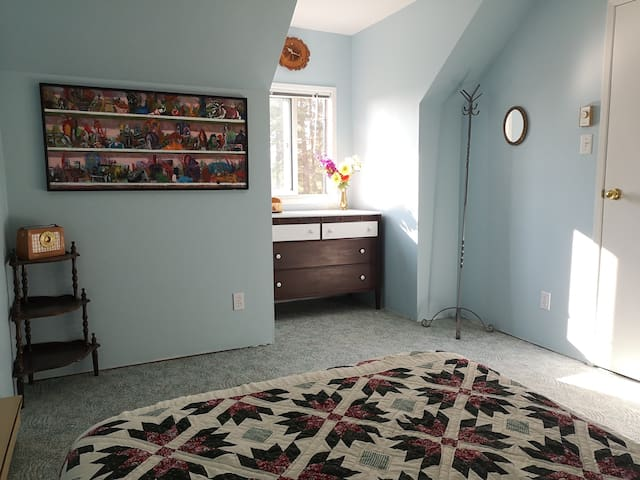 The second upstairs bedroom.