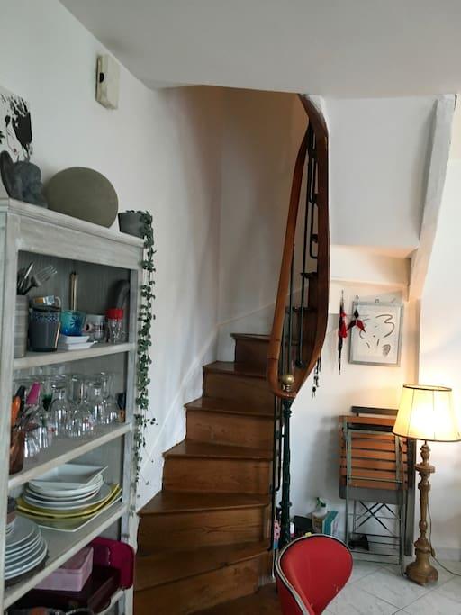 Escalier du salon