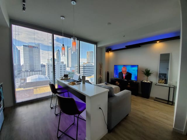 Modern studio apartment with amazing view