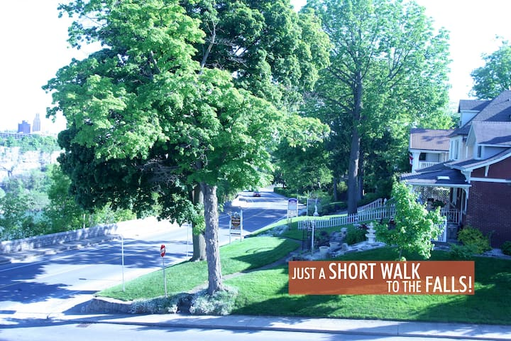 Niagara Historical Inns offers AirBnb guests the best location of any rental.  Simply walk to the Falls and all major attractions. Incur no parking fees with a stay at our Inns.
