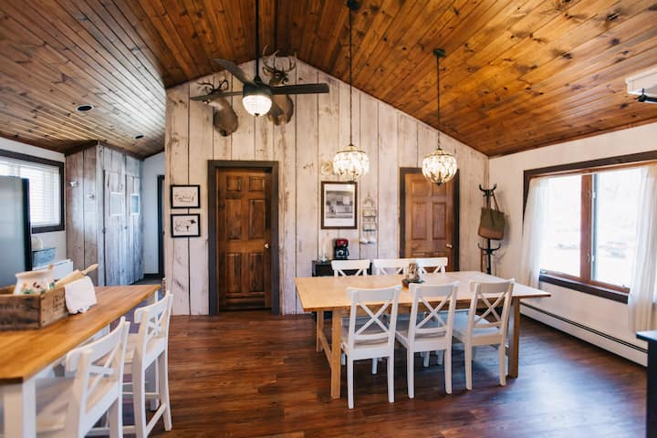 Cozy Farmhouse Cottage with Private Trails