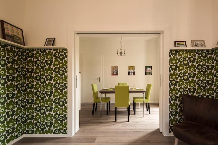 Froschgrüne Wohnung