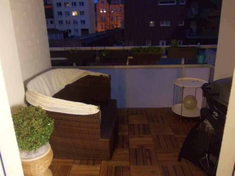 ruhiger Balkon