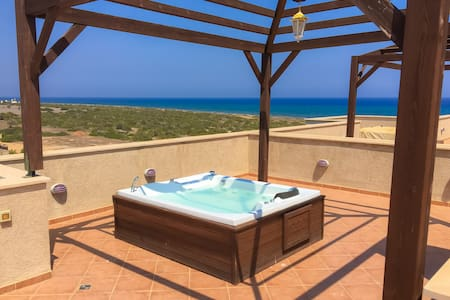 Luxury sea view beach penthouse apartment - Bafra - Pis