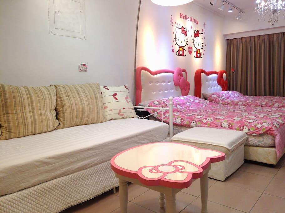 附美式風格小客廳