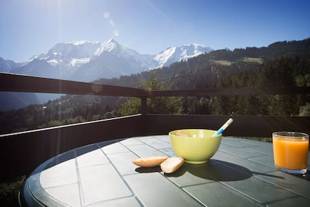 Studio cosy vue Mont-Blanc