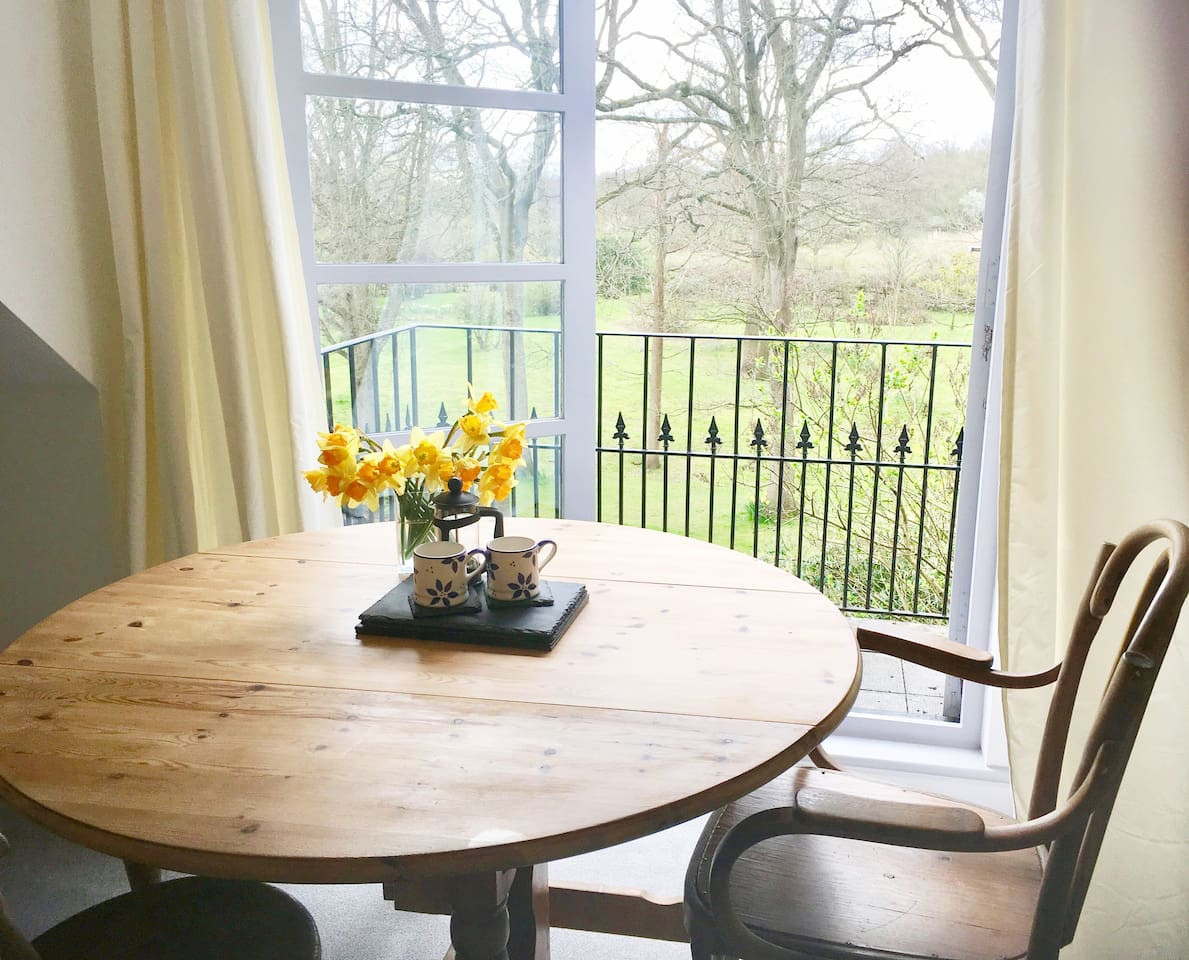 Large sitting and dining rooms with your own private balcony / seating areas and plentiful garden furniture to enjoy the extensive grounds