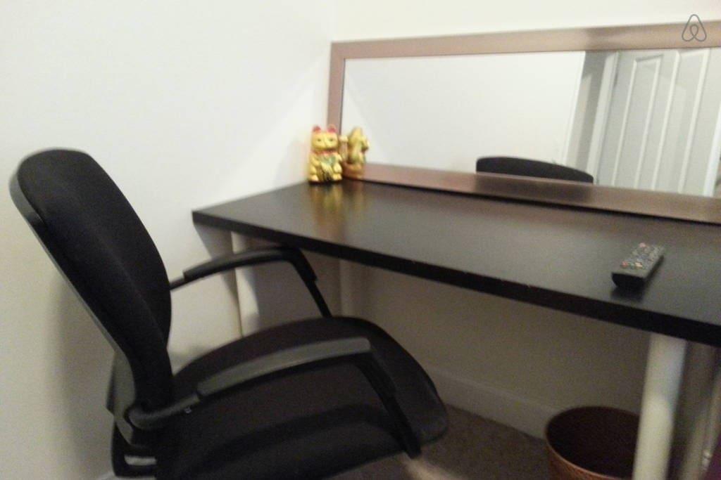 Desk in bedroom