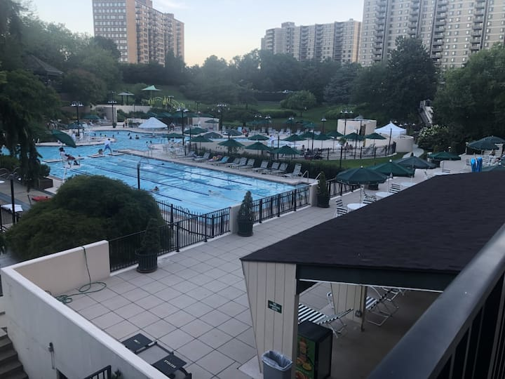 1 BR  in a 2 BR apt in a gated resort-like complex