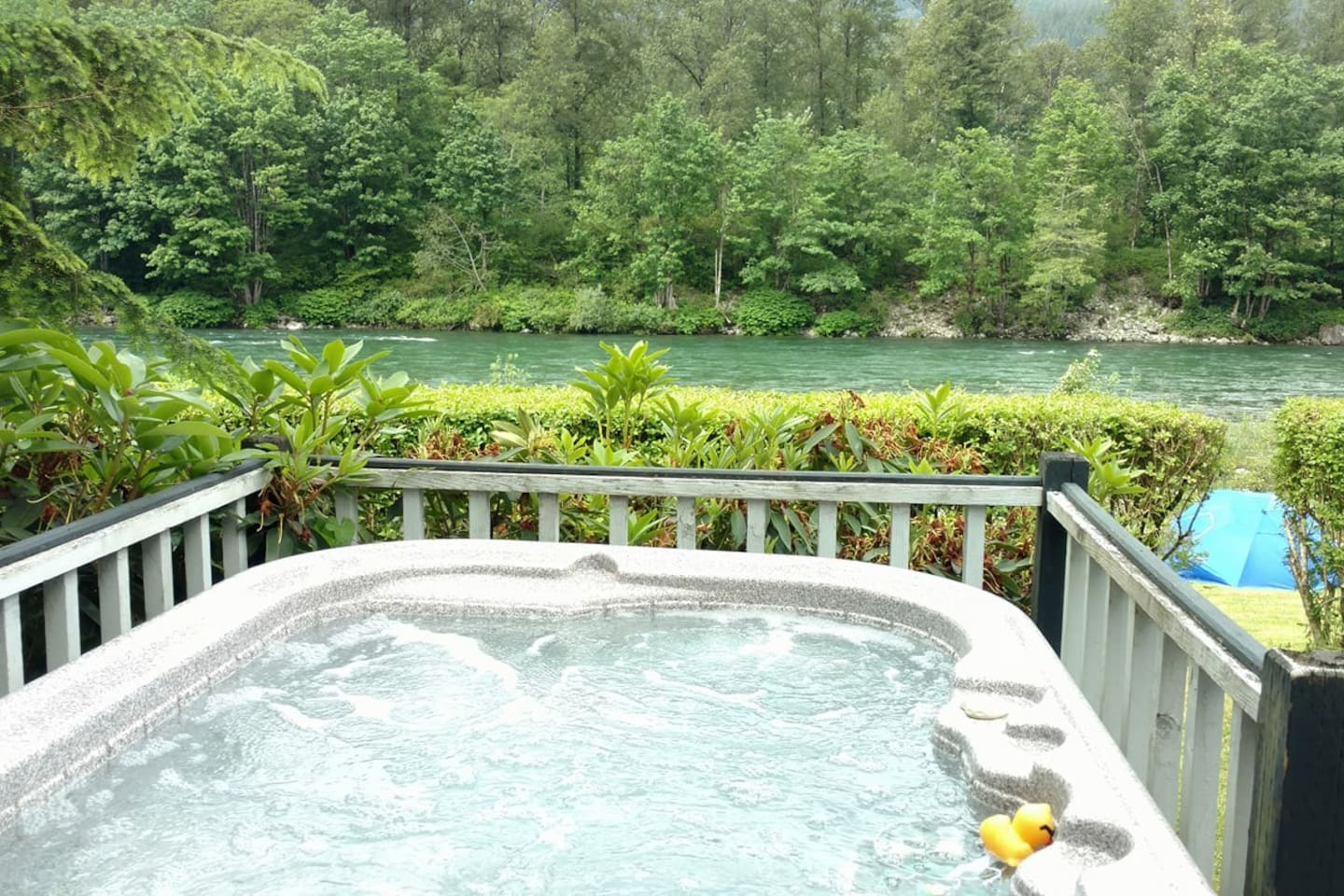 View from the Hot Tub off the Back Deck