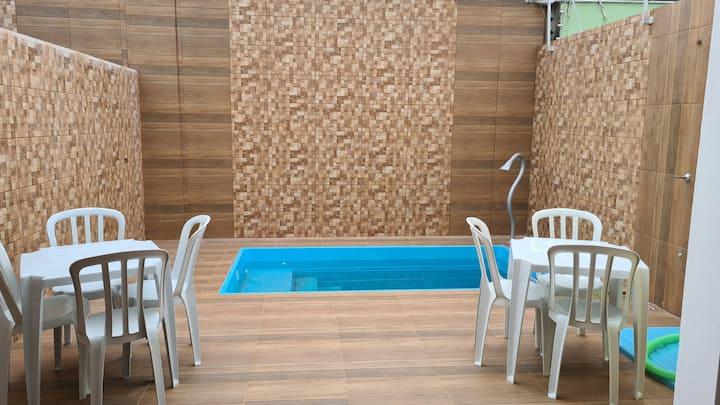 casa 9 pessoas,piscina, chu,na Martim sa. caragua