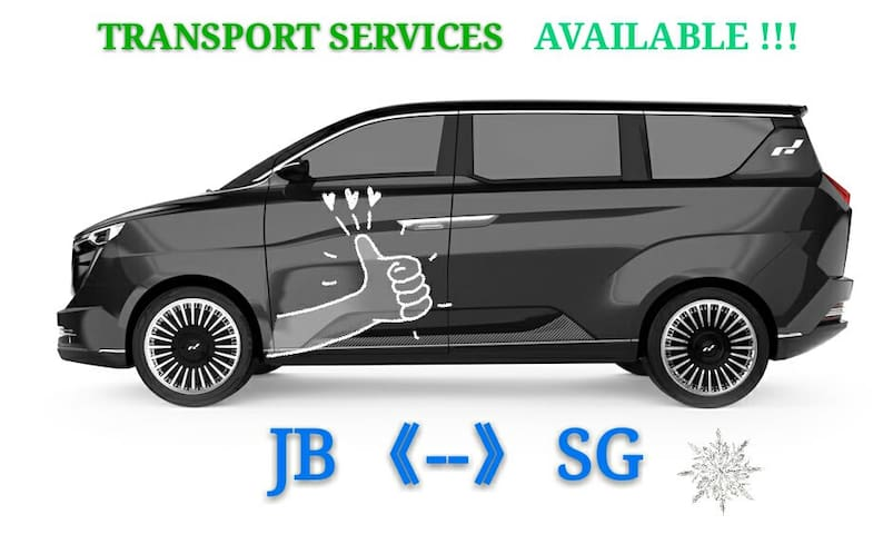 Transport services available from / to JB 《--》Singapore