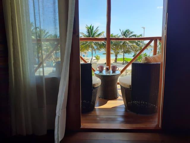 Suite superior vista al mar en Palmeras EcoCabañas