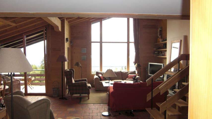 Unique penthouse appartment with incredible views - Villars-sur-Ollon - Byt