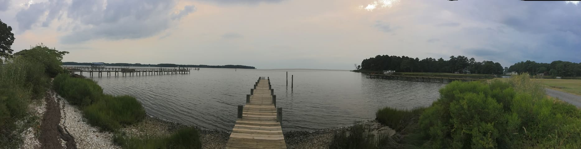 Panoramic view from your dock