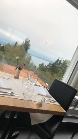 Bel appartement vue sur le lac et sur le Chaumont