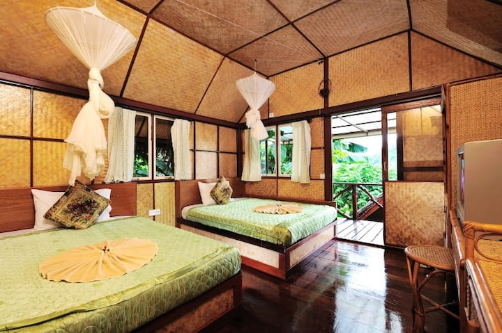 Twin Bungalow with AC in Paradise