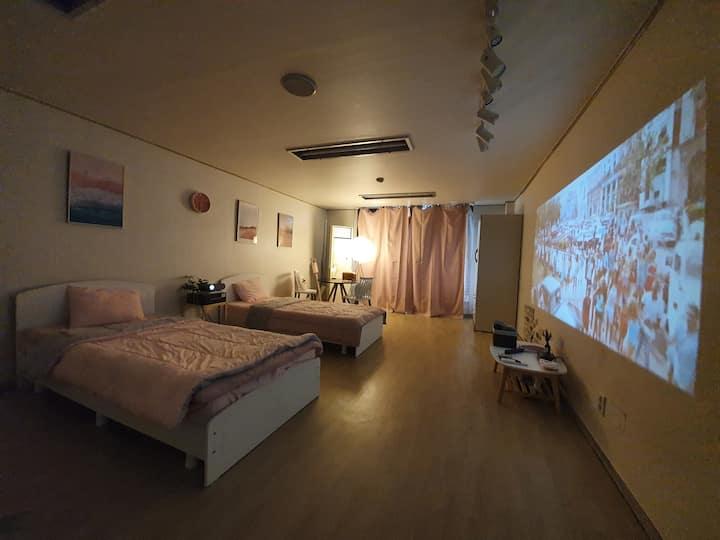#Cinema house3# Party Room# 강남&신논현 1min/숙박원할시호스트연락