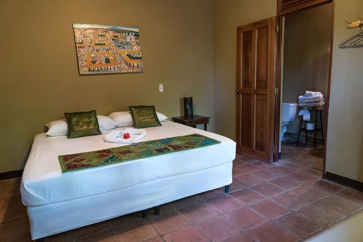 2 Forest Rooms with private bathroom. They can be offered with two single beds or one king bed.