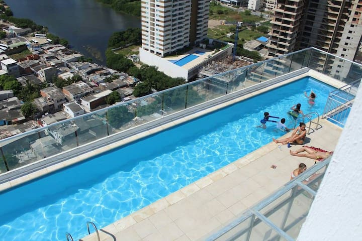 Apto. close to Old City & Beach / 360 TERRACE view