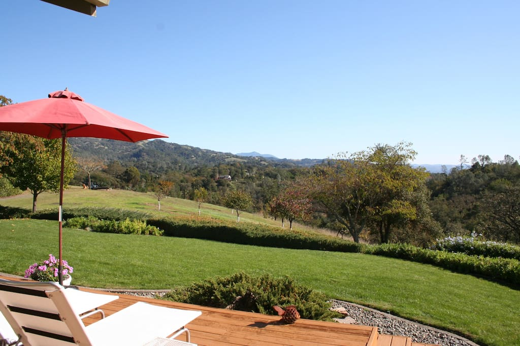 Views from back yard of Alexander Valley and Mt. St Helena