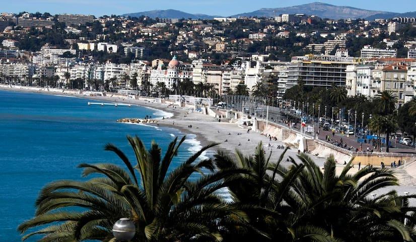 Walk 7minue to beach Nice  步行7分钟一个尼斯海滩