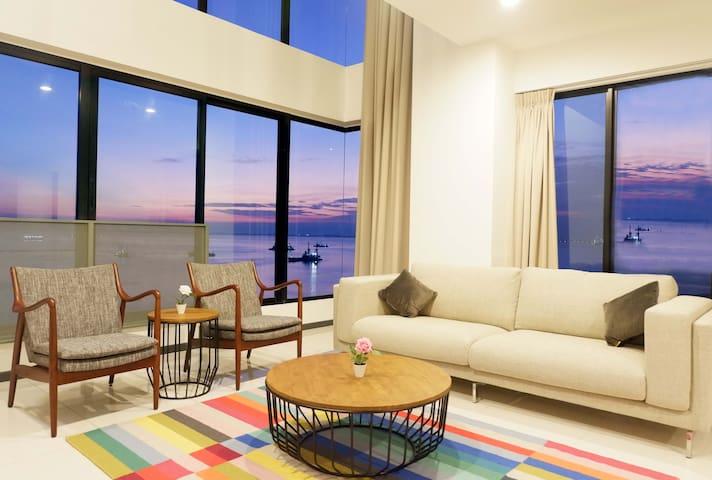 Fully Seaview Duplex Condo @ Gurney Penang 关仔角全海景