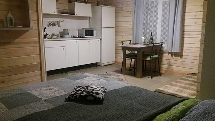 Домик для двоих Forest Studio на озере Таватуй