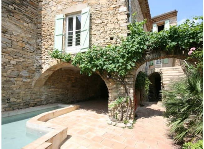 Jolie maison du 17ème près d'Uzès - Saint-Étienne-de-l'Olm - Rumah