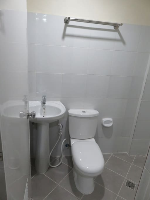 Bathroom: Shower comes with heater