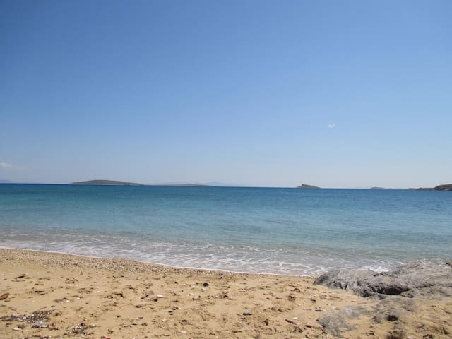 The beautiful beaches of Paros.