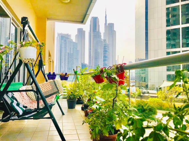 Lush Green Home with Majestic Burj Khalifa View
