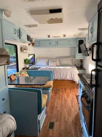 Remodeled cozy trailer