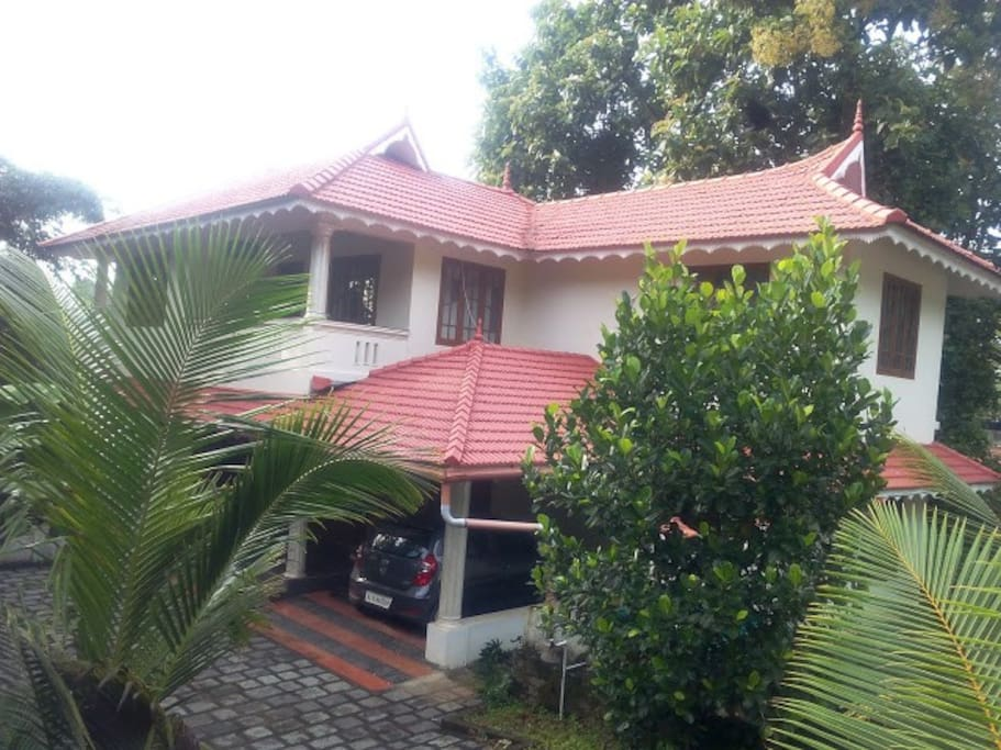 Another picture showing the front view.Through the back side of the house flows the manimala river.