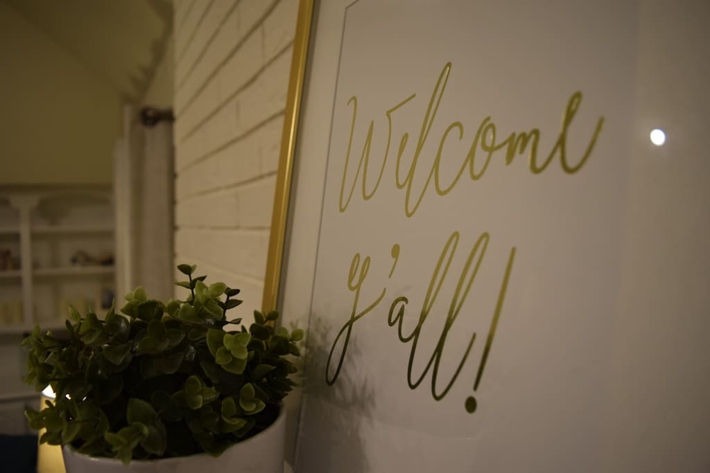 Welcome y'all! We would love you to stay in the place we love.