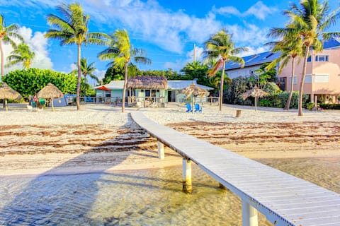 Dog-friendly, oceanfront duplex with private beach access & dock!