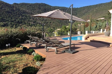 Villa with pool and amazing view - Rayol-Canadel-sur-Mer