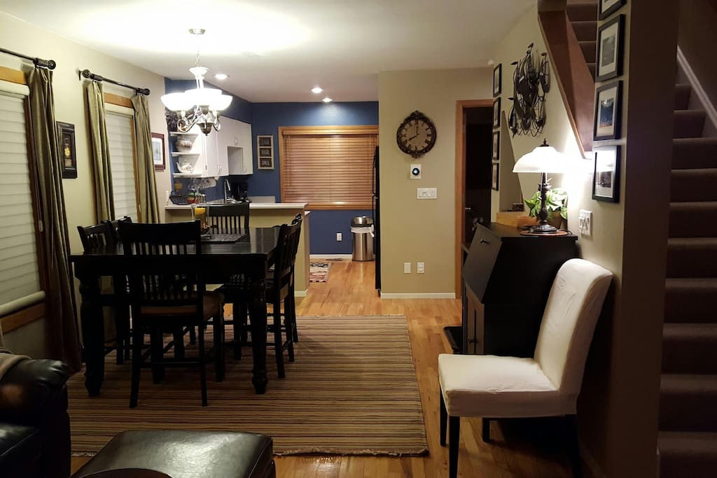 Main floor:  View from living area towards kitchen