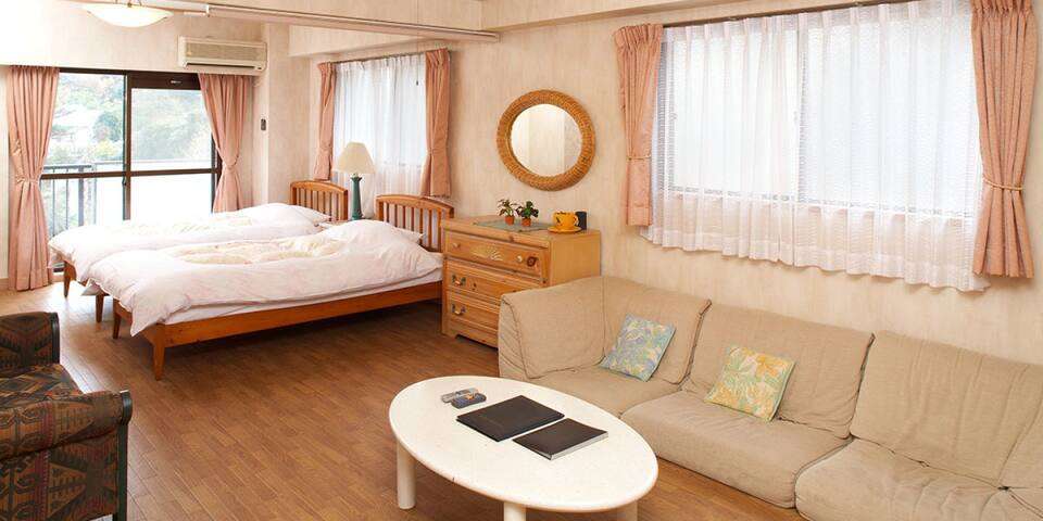 Condominium with chartered hot springs♪伊東温泉,大型1LDK(洋室)【From 2 pax】