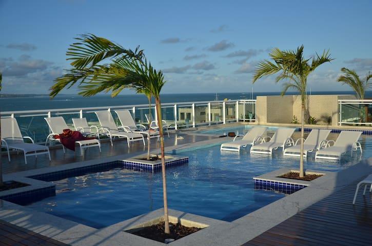 Apartamento Luxuoso JTR - Beira Mar de Maceió - Maceió