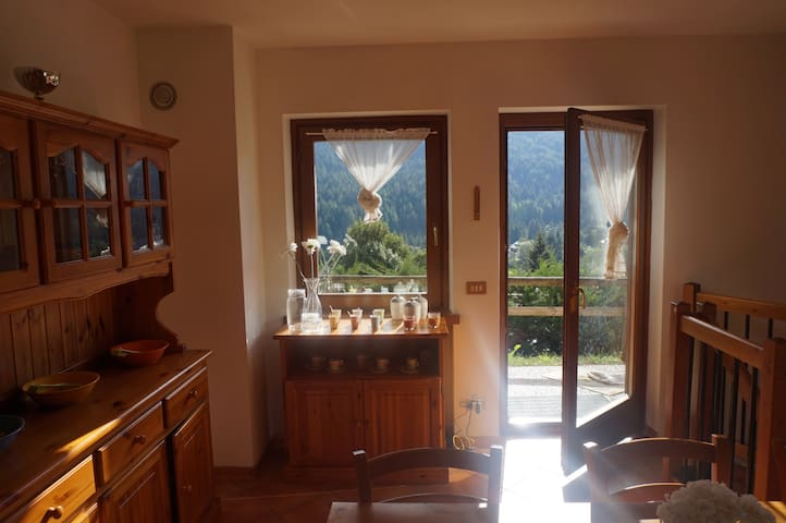 Confortable apartment with montain view -Dolomiti.